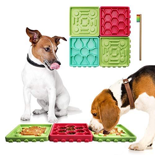 lick mat slow feeder for dogs 4 trays yinzbuy