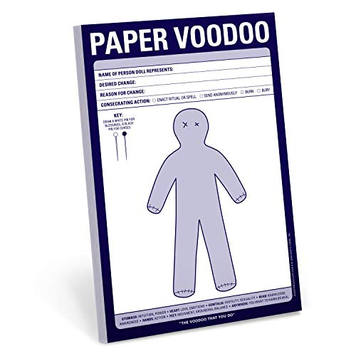 paper voodoo notepad office novelty and white elephant scratch pad yinzbuy