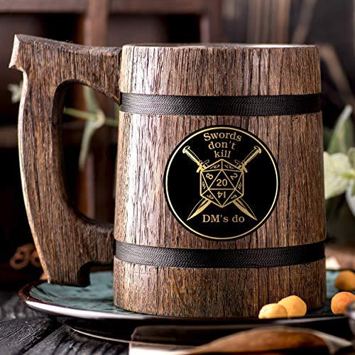 dungeon master mug customized wooden dungeons and dragons mug yinzbuy
