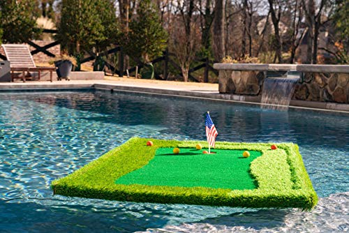 floating golf green chipping hole and pool pad for golf lovers yinzbuy