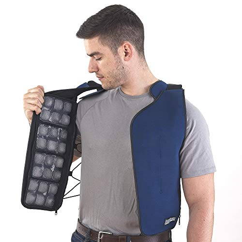 ice vest flexifreeze cooling ice pack vest for work and exercise yinzbuy