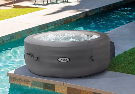 best family inflatable hot tub intex simple spa 4 person tub
