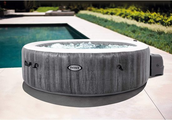 best inflatable hot tub intex greywood deluxe 6 person inflatable spa yinzbuy