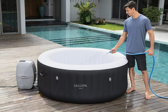 budget friendly and least expensive bestway saluspa miami inflatable hot tub 4 person