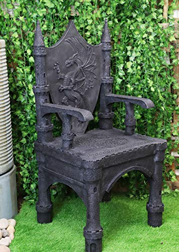 dragon throne chair medieval seat with modern materials yinzbuy