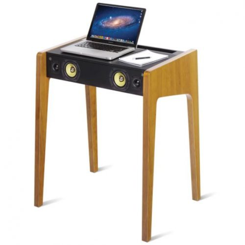 laptop desk with speakers built in play music from any electronic device yinzbuy